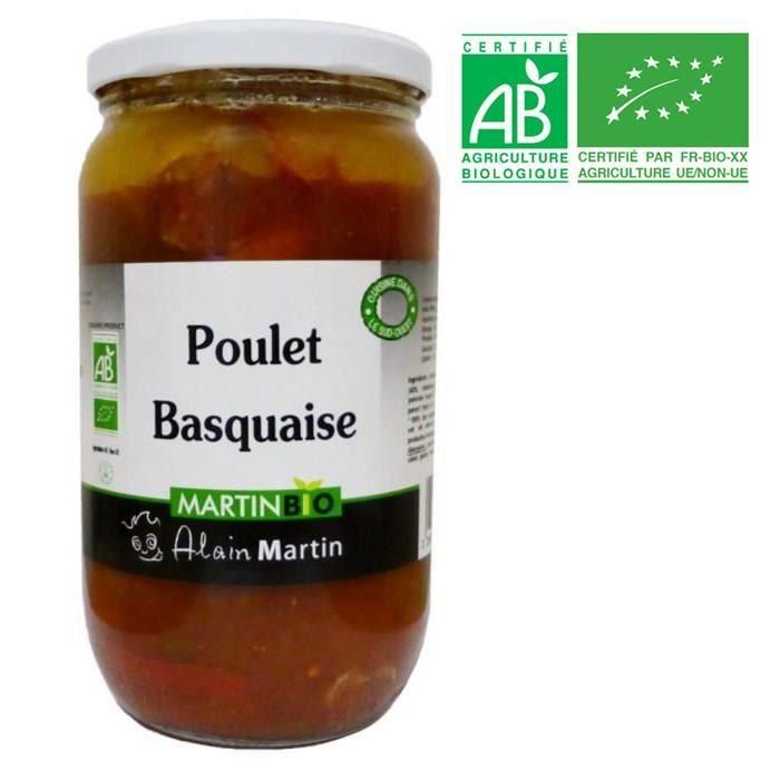 PLAT A BASE DE VIANDE Poulet Basquaise BIO 780G