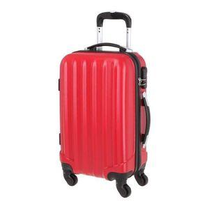 VALISE - BAGAGE Valise en ABS Rouge 4 Roues 50x35x20 cm