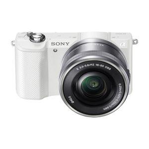APPAREIL PHOTO HYBRIDE SONY α5000 Blanc + 16-50mm rétractable