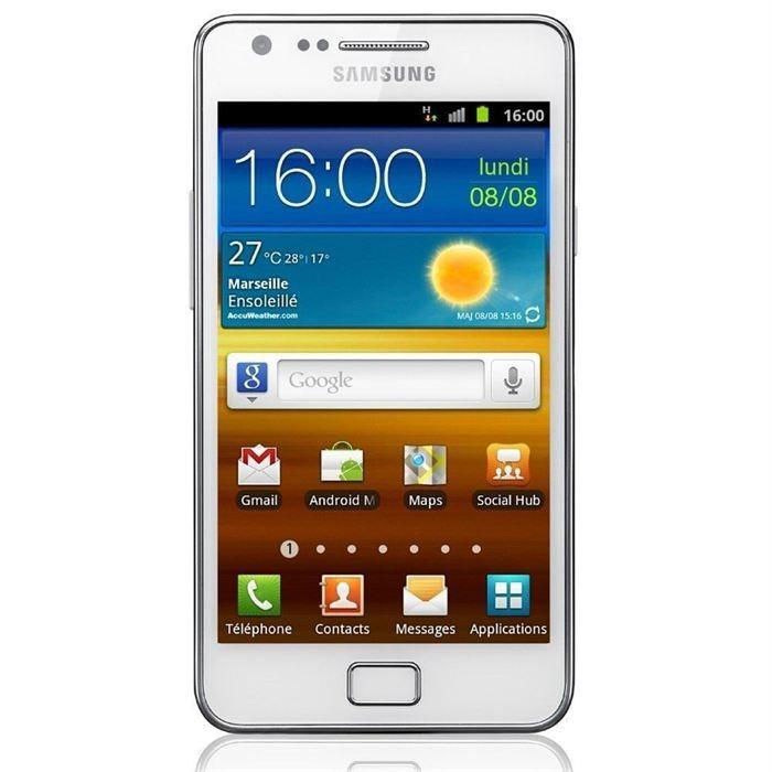 samsung galaxy s2 i9100 g blanc achat smartphone pas cher avis et meilleur prix cdiscount. Black Bedroom Furniture Sets. Home Design Ideas