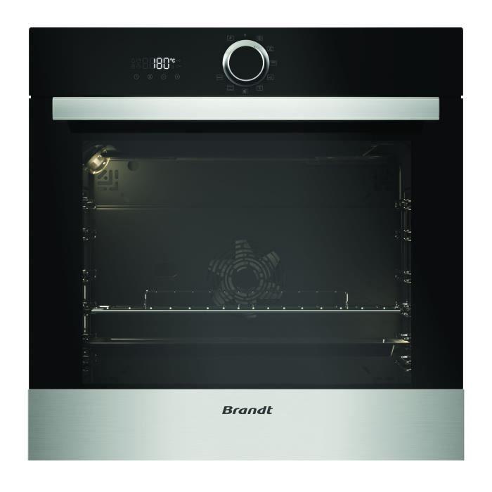 Brandt Bxp5700x Four électrique Encastrable Chaleur Tournante 68 L Pyrolyse A Inox