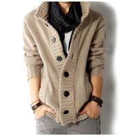 PULL Mode de nouveaux hommes pull en tricot Noir XL