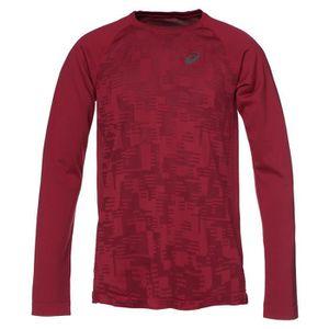 asics Icon T shirt manches longues running Femme rouge