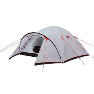 TENTE DE CAMPING WILSA Tente Corte - 3 places - Gris et rouge