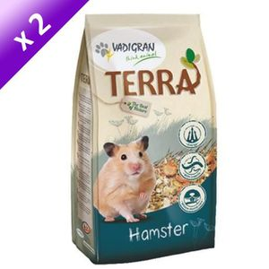 VADIGRAN Lot de 2 Nourriture TERRA pour hamsters 700g