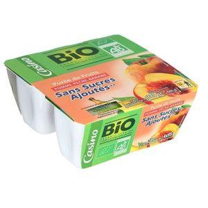CASINO Bio Purée Pomme p?che banane - 4x95 g