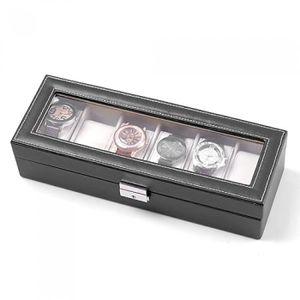 boite 6 montres en cuir achat vente pas cher cdiscount. Black Bedroom Furniture Sets. Home Design Ideas