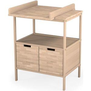 TABLE À LANGER Ateliers T4 Meuble à Langer Brut, Bois, 1 étagères
