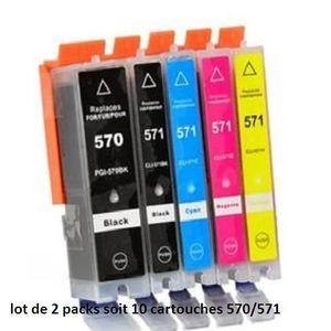 CARTOUCHE IMPRIMANTE PGI-570/CLI-571 LOT DE 10 CARTOUCHES COMPATIBLES C