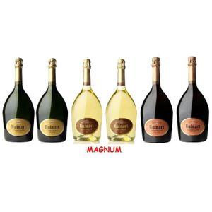 CHAMPAGNE Lot Découverte de 6 Magnums de Champagnes Ruinart