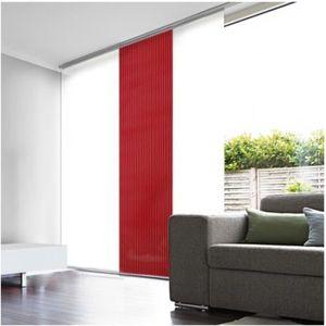 PANNEAU JAPONAIS Panneau Japonais Voile Rouge Ajouré 45cm x 260cm
