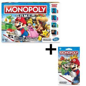 JEU SOCIÉTÉ - PLATEAU MONOPOLY - Gamer, le jeu version Mario + Personnag