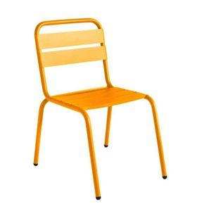 fauteuil jardin chaise de jardin mtal design visalia couleur jaun - Chaise De Jardin Couleur