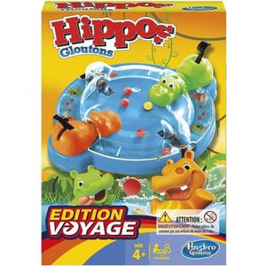 JEU SOCIÉTÉ - PLATEAU HASBRO GAMING - Hippos Gloutons - Jeu de voyage