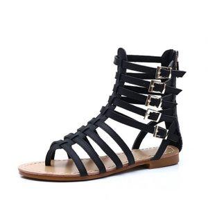 SANDALE - NU-PIEDS  Chaussure femmes Sandales plates romaines femme b