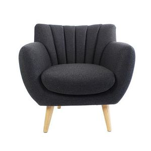 FAUTEUIL Fauteuil Soft Style Scandinave Gris Anthracite