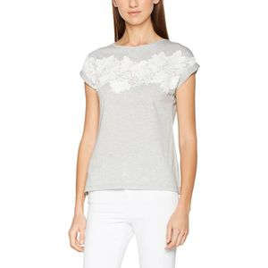 2f964ecfab Dorothy Perkins Women s Grey Marl Lace Front Tee T-shirt 1D2F86 ...