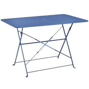 Table de jardin metal rectangulaire pliante - Achat / Vente pas cher