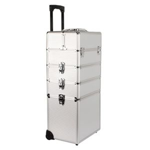 VALISE - BAGAGE Yorbay Malette Maquillage trolley 4-in-1 argent Bo
