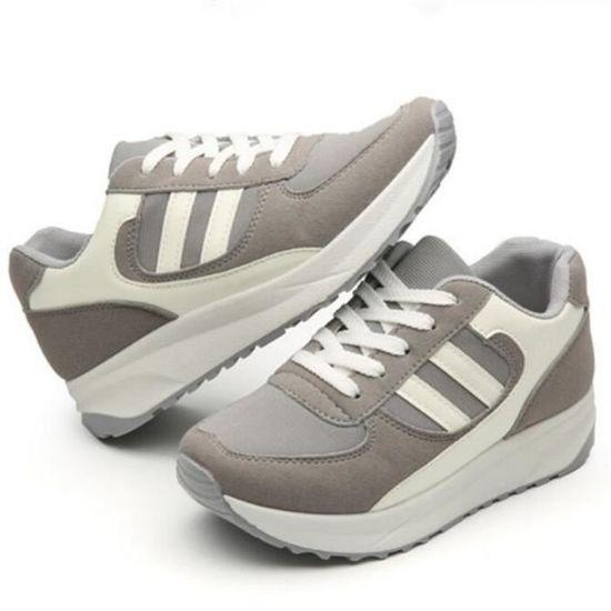 Basket Femmes Comfortable Mode Jogging Chaussure BBDG-XZ039Gris35 Gris Gris - Achat / Vente escarpin