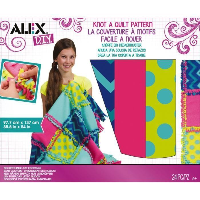 ALEX Noue ta couverture à motifs Toys Craft - Pour enfants 6 ans et plus - Facilité d'emploie