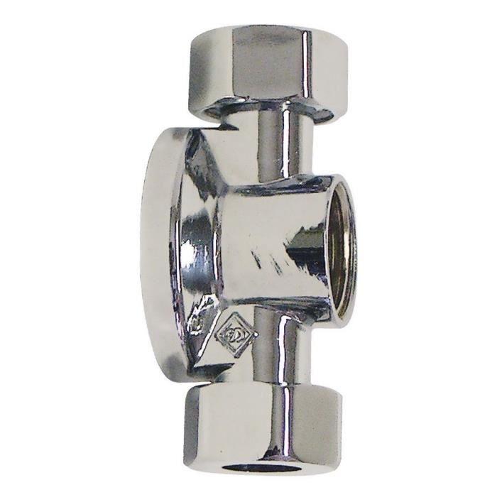 SOMATHERM Applique de machine à laver double écrou chromé 15/21 pour tube cuivre