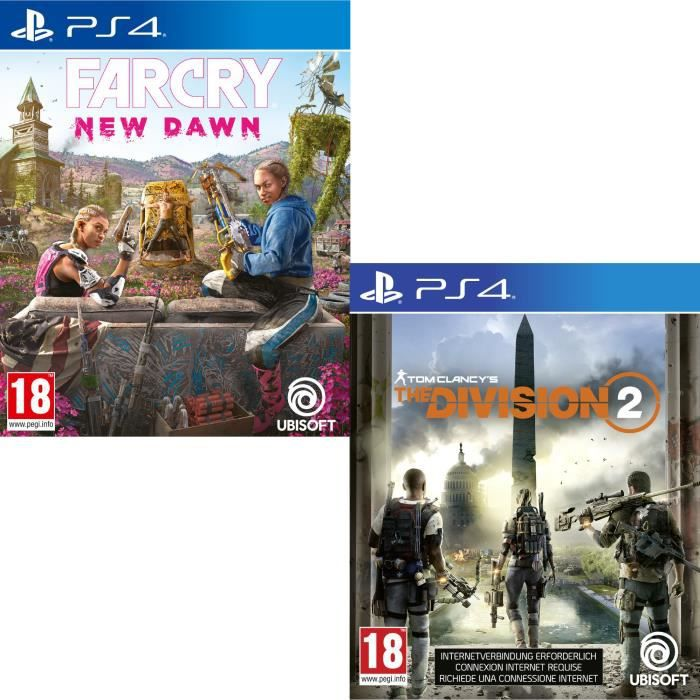 Pack 2 Jeux Playstation : The Division 2 + Far Cry New Dawn