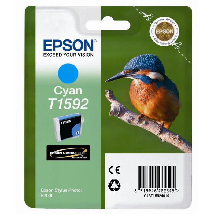EPSON Pack de 1 Cartouche T1592 pour Stylus Photo R2000 - Cyan - Standard
