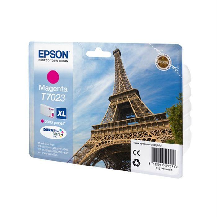 Epson T7023 XL  Tour Eiffel Cartouche d'encre Magenta