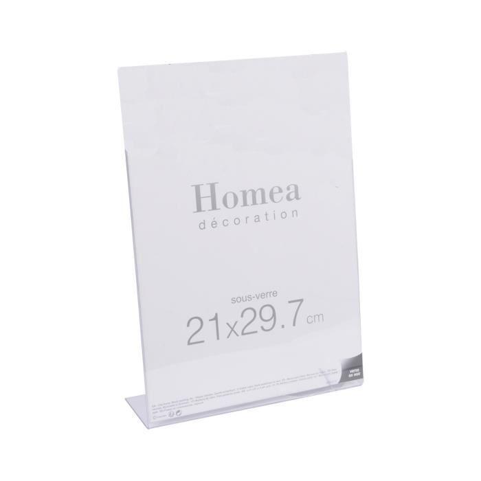HOMEA Porte-photo à poser 21x29,7 cm transparent