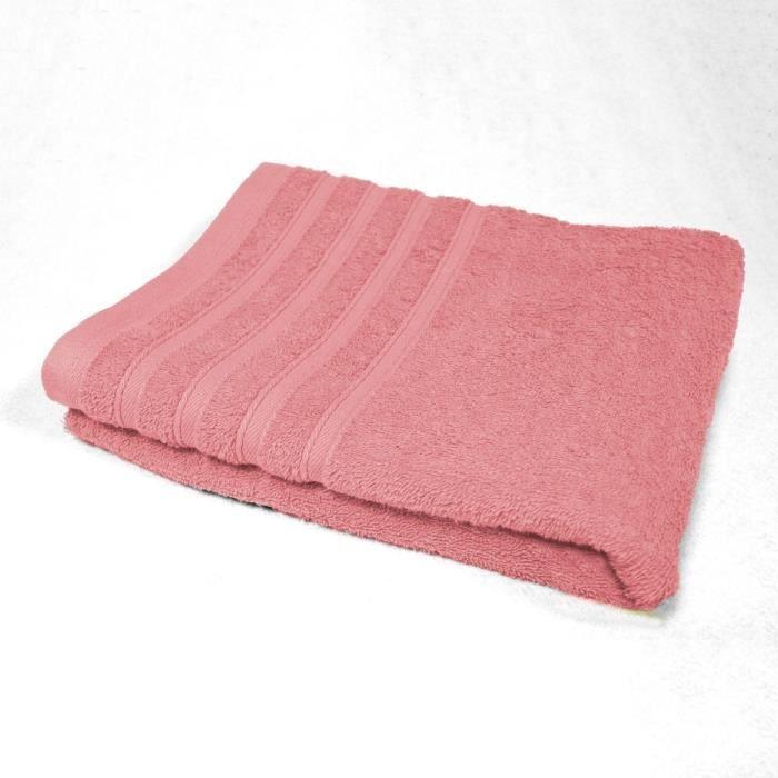 DOUCEUR D'INTERIEUR Drap de bain 100% coton Vitamine 90x150 cm dragée