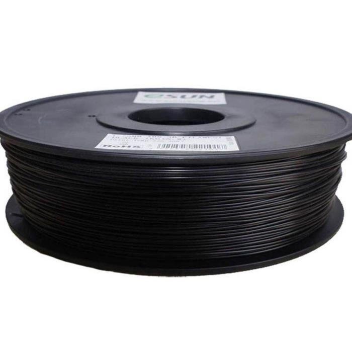 ESUN Filament pour Imprimante 3D HIPS - Noir - 3 mm - 1kg