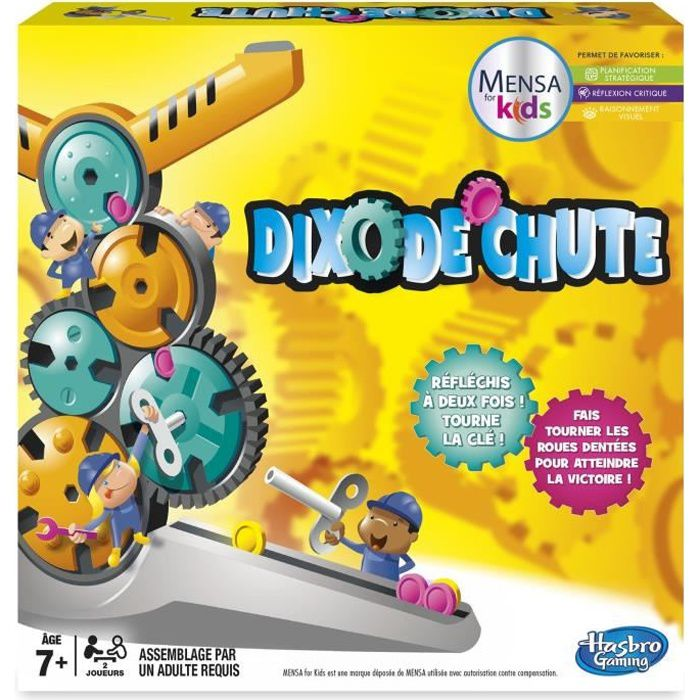 Hasbro - Chaque tour devient un nouveau défi : faites tourner les roues avec la clé spéciale chacun votre tour, chaque roulement d'engrenage modifie le cours du jeu. Garçon et fille - A partir de 7 ans - Livré à l'unitéJEU DE SOCIETE - JEU DE PLATEAU