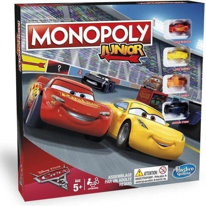 Plonge dans l'univers passionnant de Flash Mc Queen grâce au Monopoly Cars 3 ! garçon et fille - Dès 5 ans - Livré à l'unitéJEU DE SOCIETE - JEU DE PLATEAU