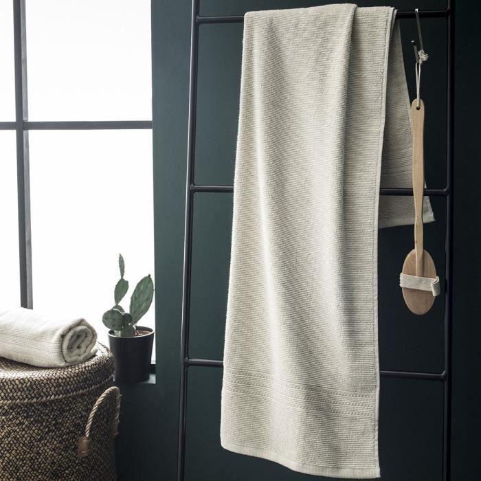 TODAY Drap de bain maxi Jardin d'Hiver 100% coton - 90x150 cm - Naturelle écru
