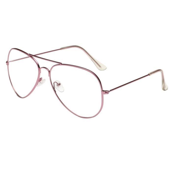 0a7be5012fee0 Lunettes de soleil lentilles claires lunettes métal Frame  Lunette ...
