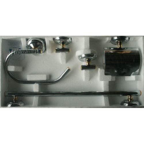 Accessoires salle de bain assortis chrome achat vente set accessoires accessoires salle de - Cedeo accessoires salle de bain ...