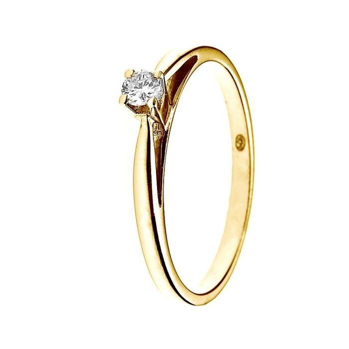 9d04e0fd127 DIAMOND LANE Bague Solitaire Or Jaune 750° et Diamant 0