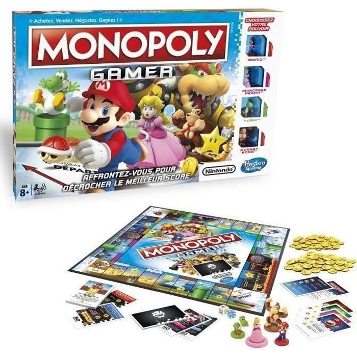 JEU SOCIÉTÉ - PLATEAU MONOPOLY GAMER - Le Jeu Version Mario !