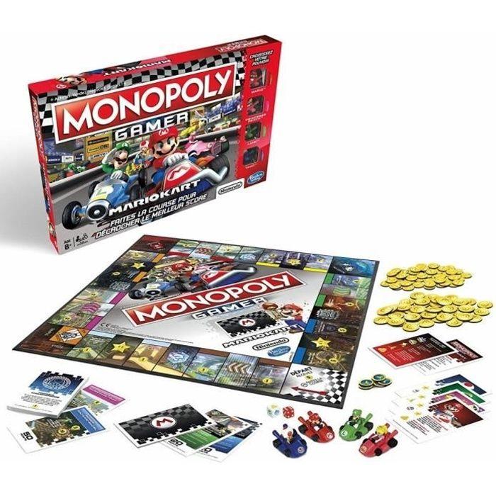 JEU SOCIÉTÉ - PLATEAU MONOPOLY - Gamer Mario Kart - Jeu de Société