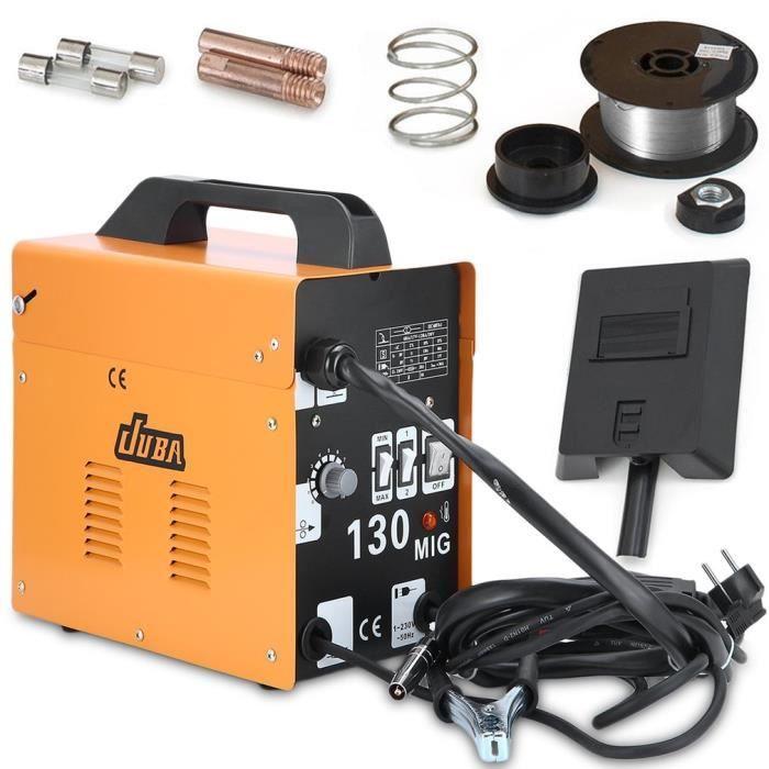 JUBA Poste à Souder, Soudage Electrique,Soudure à Air Chaud Ménager  Portable MIG-130 230V EU Plug JAUNE e69da8f0c945