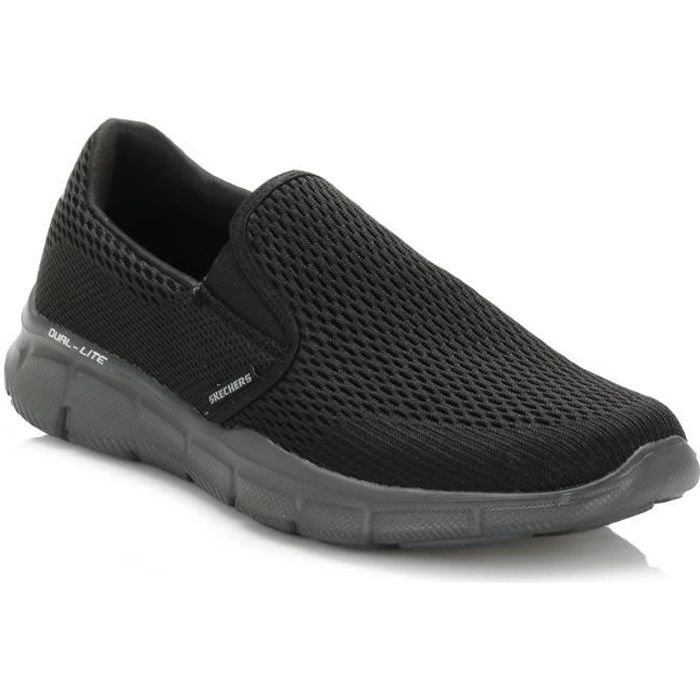 Skechers Double Play Bleu - Chaussures Slips on Homme