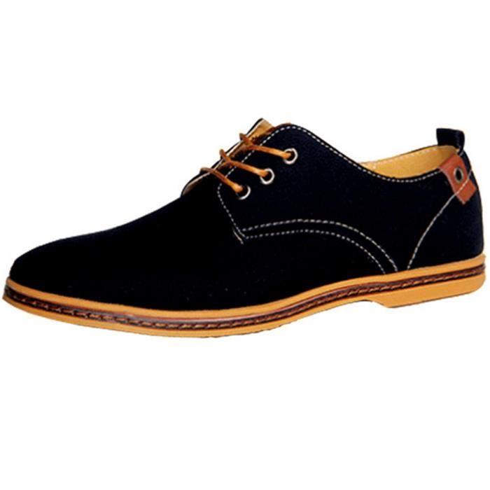 DADAWEN Homme Canvas Oxford chaussure Noir 46