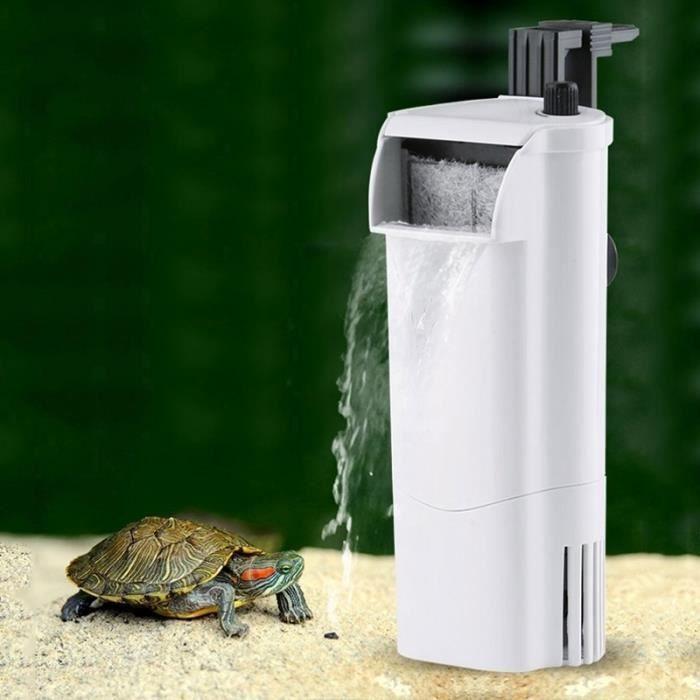 Filtre D'aquarium Accessoires 3w Cascade Style De Débit D'eau Réglable En Eau Peu Profonde Aquarium Fish Tank Silencieux