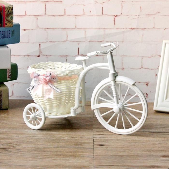 Panier De Fleur Vase À La Main Paniers De Rotin Grand Tricycle Vélo Maison  Jardin Décoration De Fête De Mariage, Aléatoire Ruban De