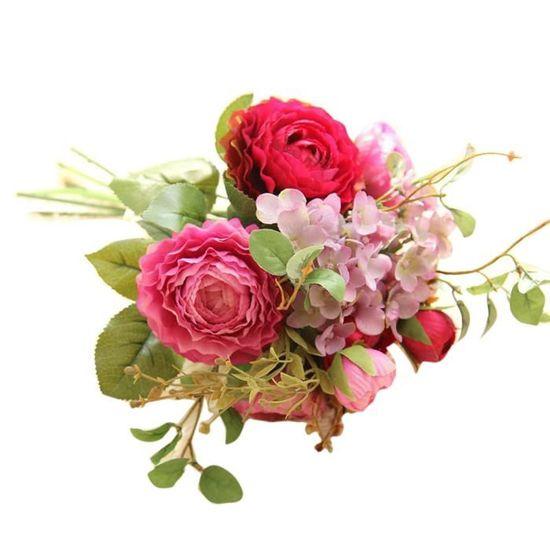 Fleurs Artificielles Faux Terre Lotus Floral Fête De Mariage Bouquet