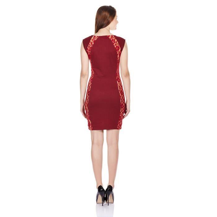 Coton Robe moulante pour femmes EQFY2 Taille-38