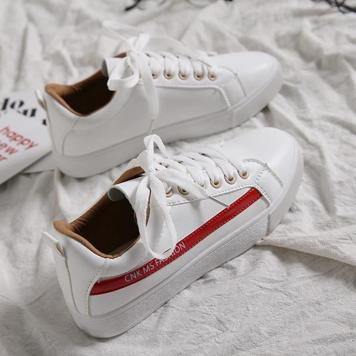 Femmes Sheloveit® Lacer Blanc Appartement Baskets NX8k0nPwO
