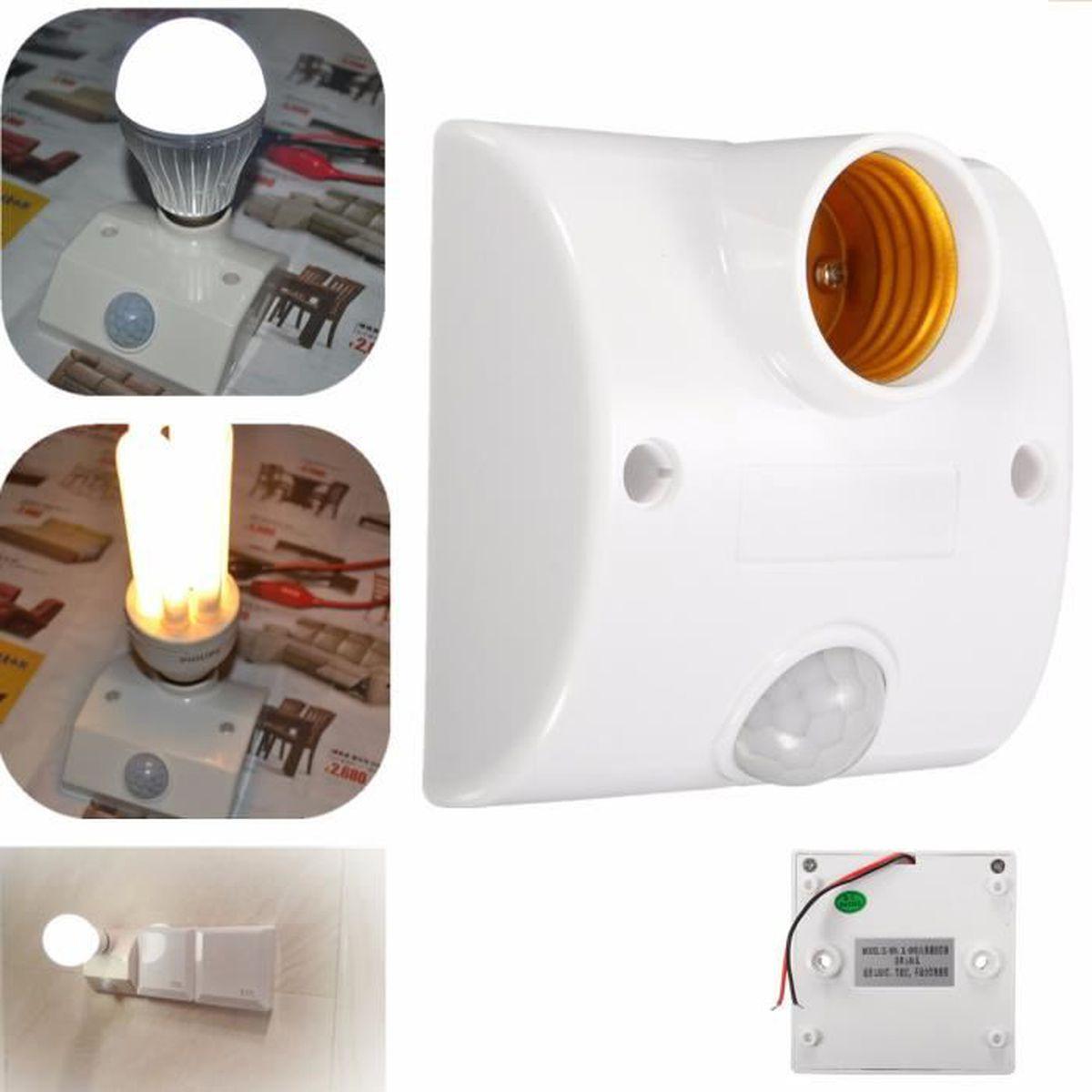 Auto Mouvement E27 Lampe Détecteur Capteur Interrupteur De Culot Infrarouge Led bvY6f7gy