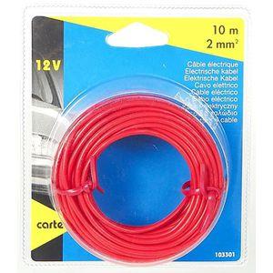 CARTEC Câble électrique auto ?2mm?x 10m rouge